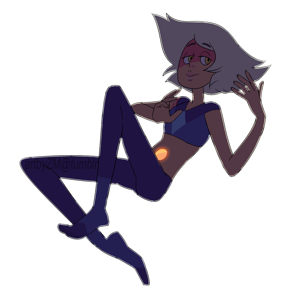 I wanted to quickly doodle Skinny but accidentally made some neat lighting.