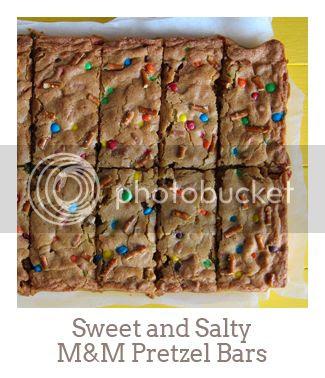 """Sweet and Salty M&M Pretzel Bars"""
