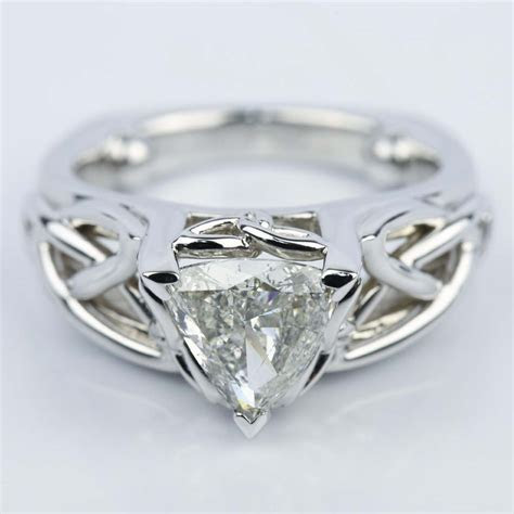 Celtic Knot Trillion Diamond Engagement Ring (1.16 ct.)
