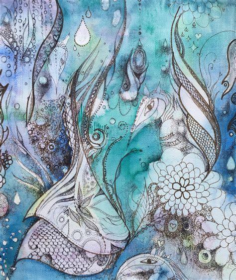 abstract art ocean creatures