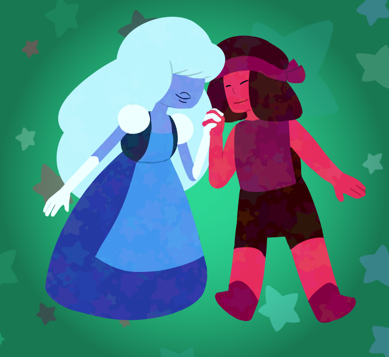 Day 25, a couple. A couple o' cuties! Aaah I made a star brush for the background stars and then edited it for a different picture and used that one for the other stars and I love it so much.