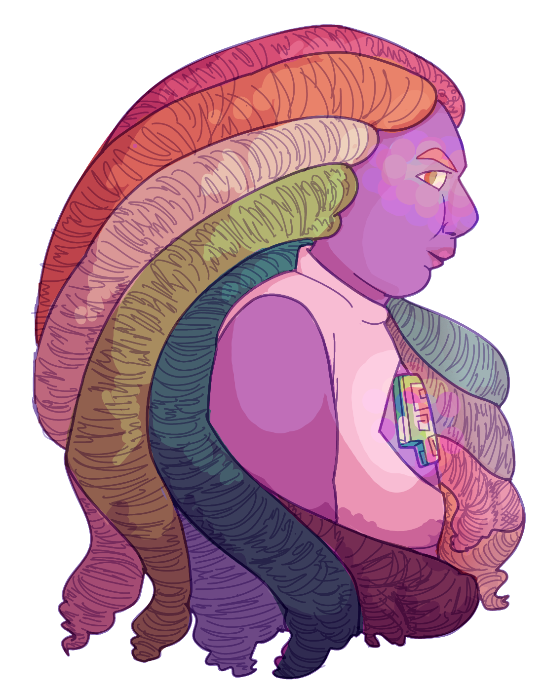 everyone's suggesting that this fabulous haired gem is bismuth and i got all excited