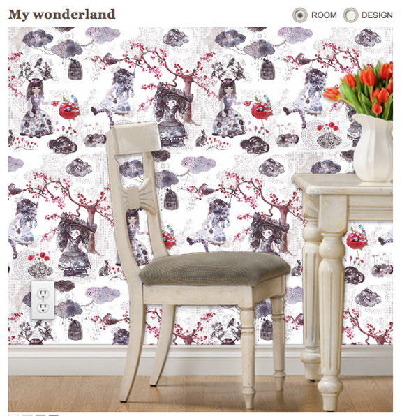 My Wonderland Triangles Spoonflower S Wall