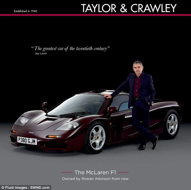 The Mr Bean actor has sold his McLaren F1 for £8million, 18 years after buying the supercar for £640,000