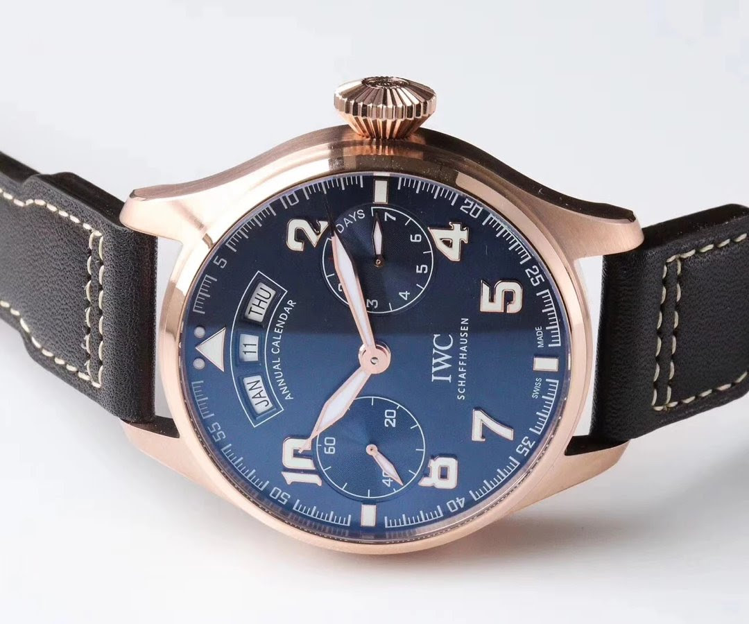Replica IWC Annual Calendar Rose Gold Case
