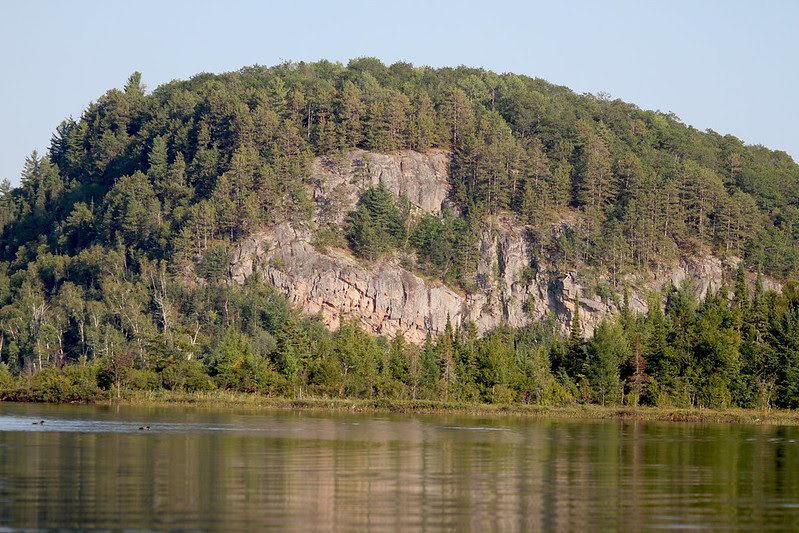 Rockface of Blueberry island