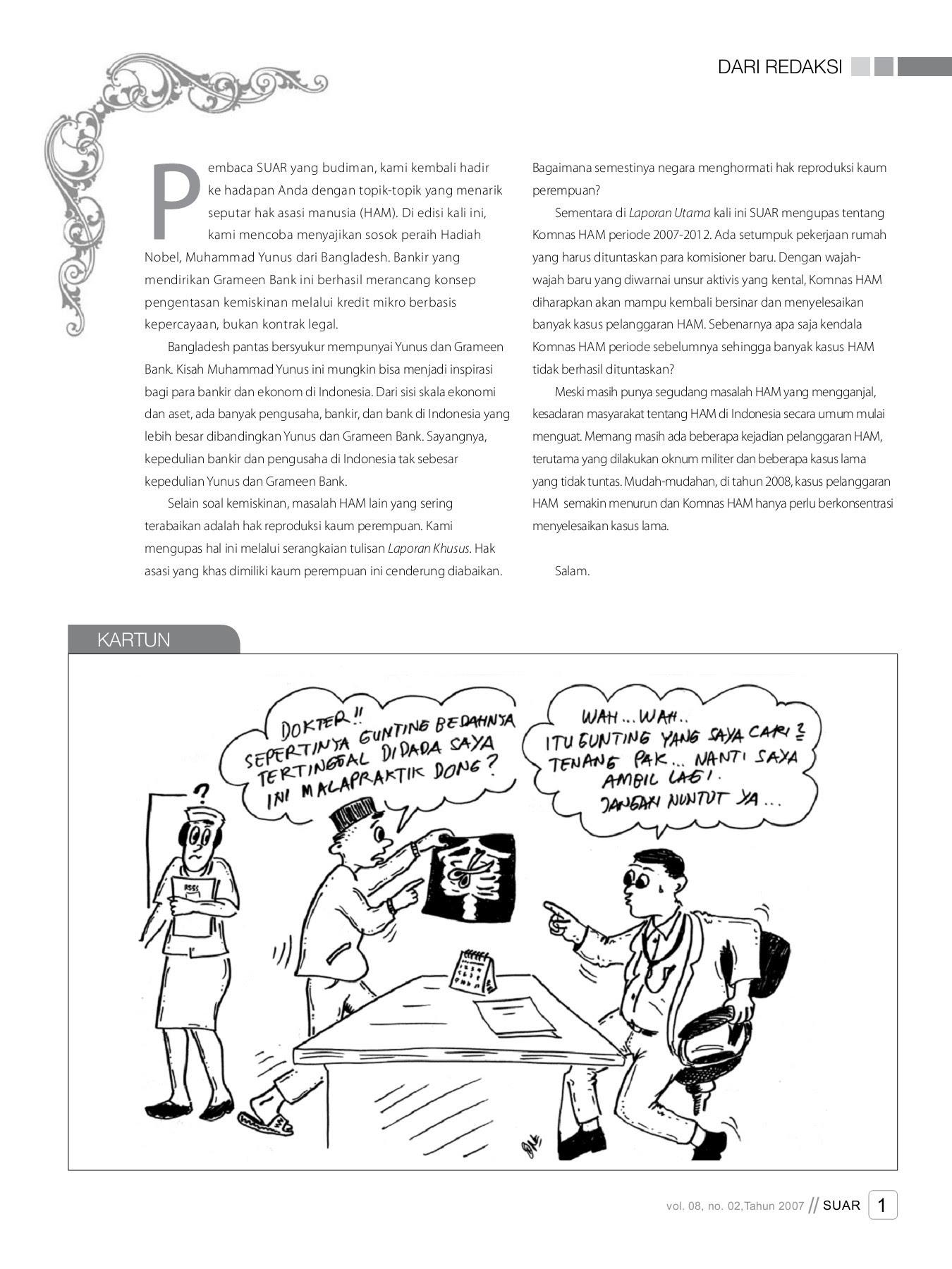 Majalah SUAR Vol 08 No 02 Tahun 2007 Pages 1 48 Text Version