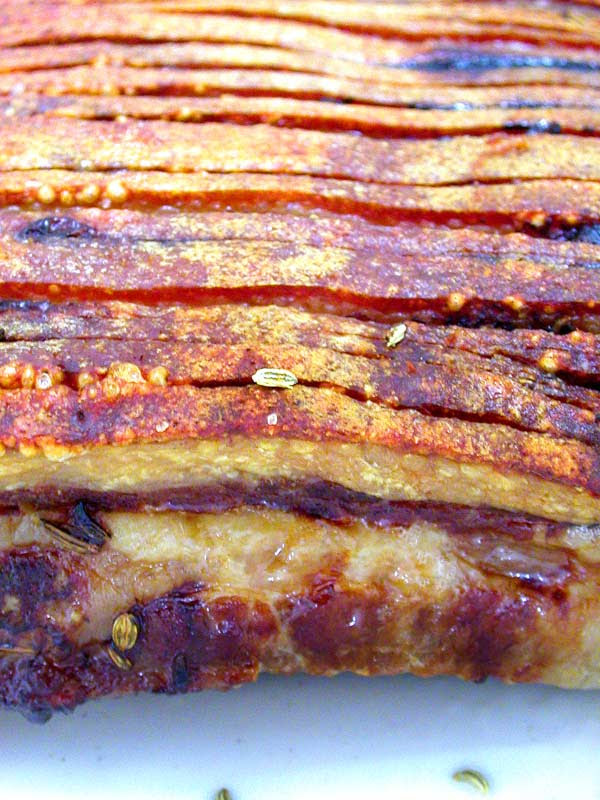 roasted pork belly with fennel seeds