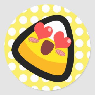 Oh My Goodness! Love Struck Candy Corn! Sticker sticker