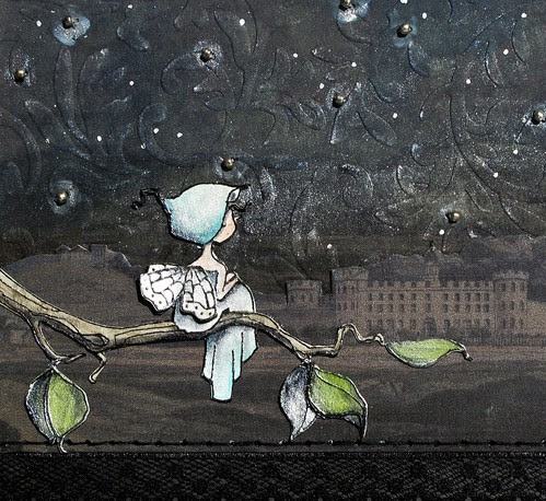 a day for daisies Little nymph at night by mel stampz with graphics fairy castle CLOSE