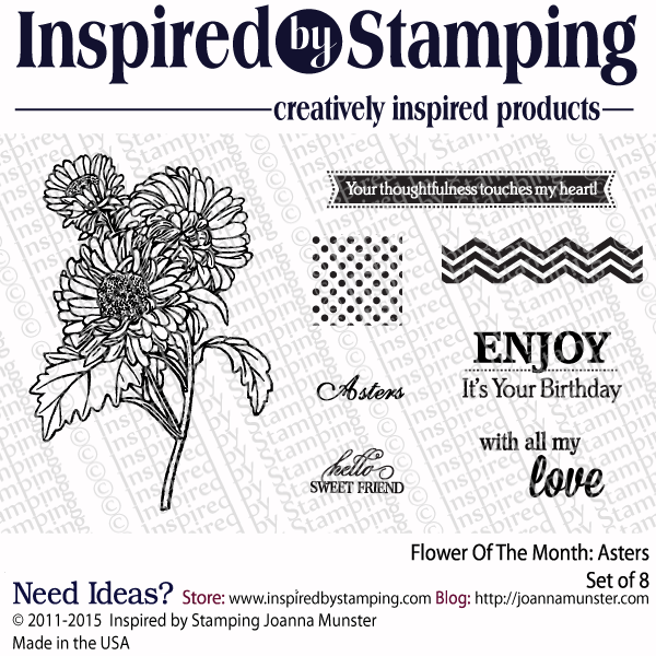 Inspired by Stamping Flower Of The Month Asters stamp set