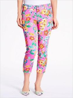Spring Floral Fashion - Kate Spade Broome Street Capri