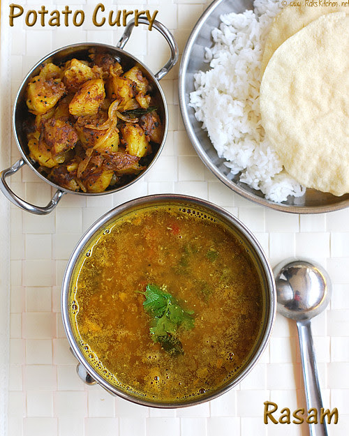 mysore-rasam&-potato-curry