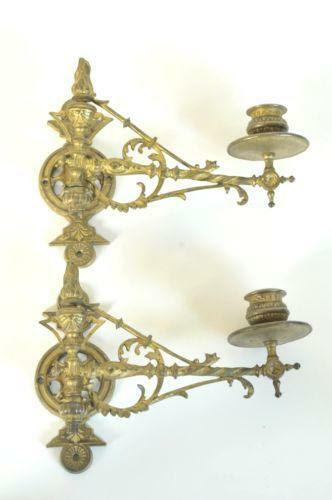 Antique Candle Wall Sconces | eBay