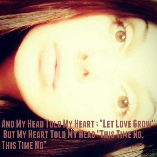 My Heart Told My Head Quote Picture