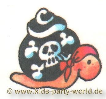 Pirate Tattoos on Mini Tattoo Piraten Schnecke Kinder Tattoos
