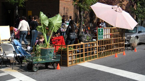 Cortelyou Road Park, Park(ing) Day NYC, 2009