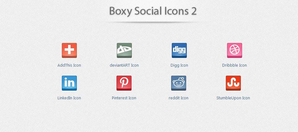 Boxy Social Icons 2
