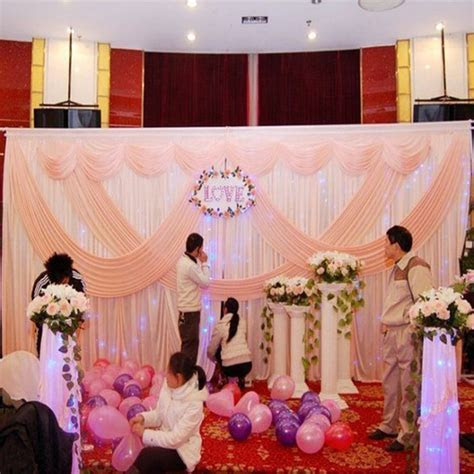 Pink wedding backdrop party stage wedding decoration