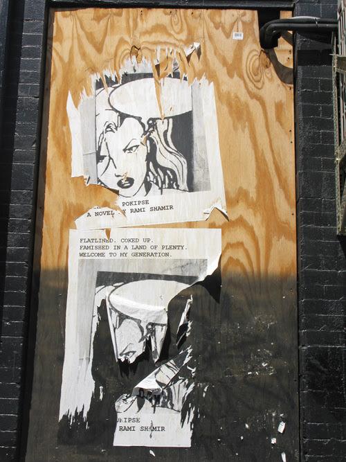 ripped ad, Manhattan, NYC
