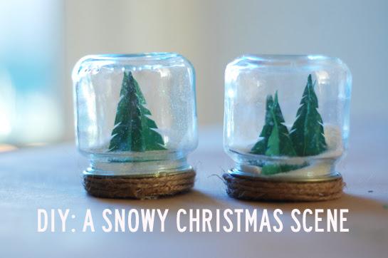 diy: a snowy christmas scene