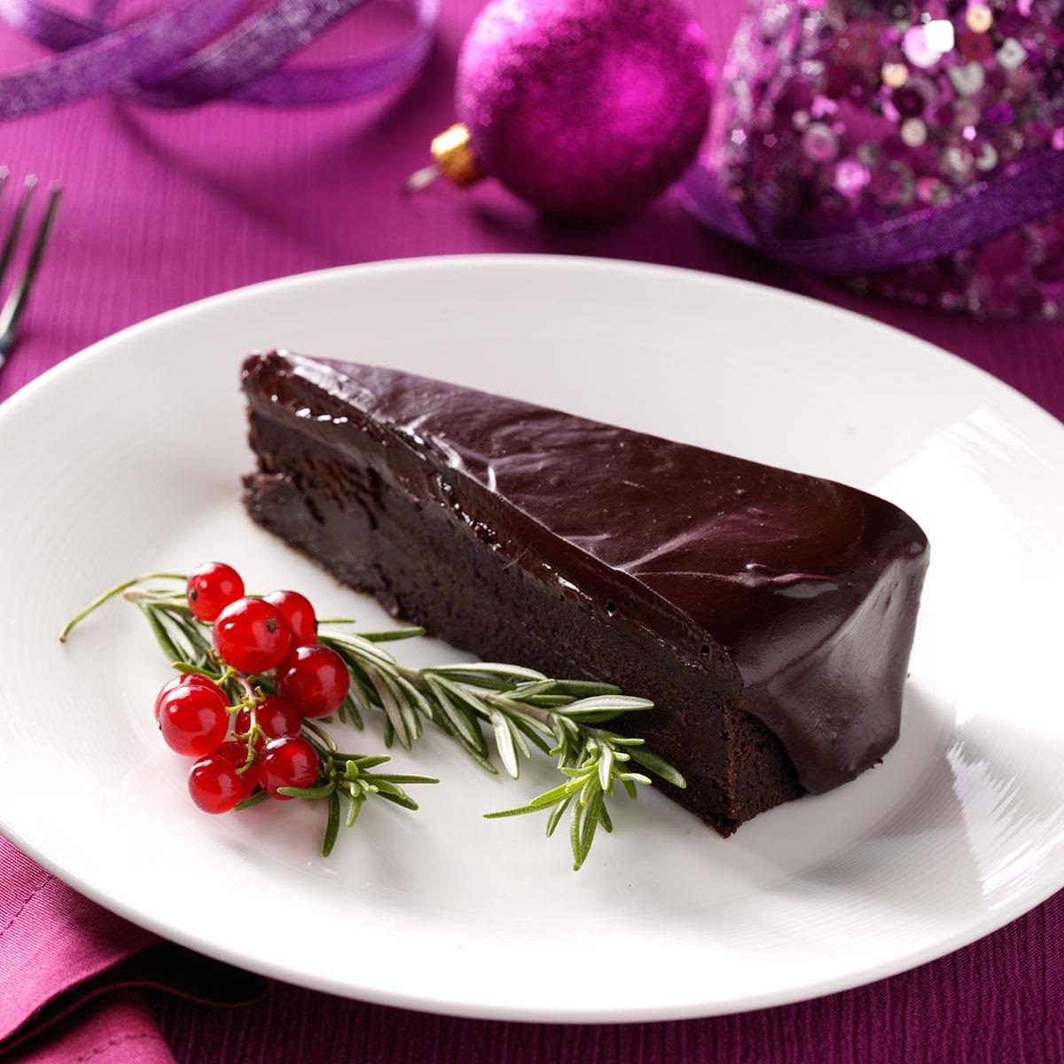 Flourless Chocolate Cake with Rosemary Ganache Recipe ...