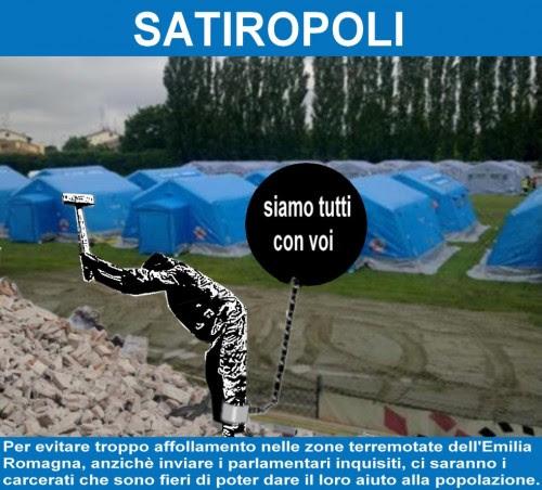 satira,attualità,calcio scommesse,F35,terremoto Emilia Romagna,Mubarak,Pdl,Lega,