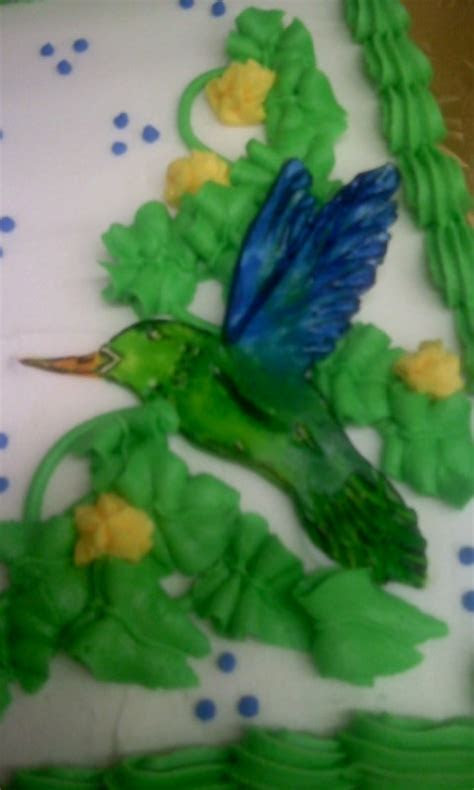 Fondant Hummingbird Retirement Cake   My Cakes   Pinterest
