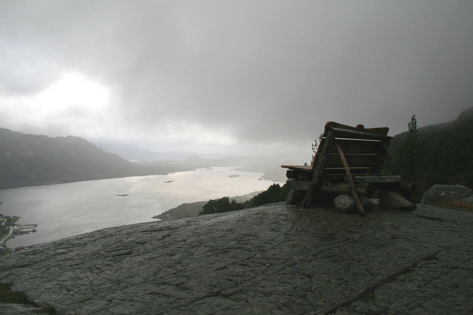Utsikt fra Eikefjordstølen