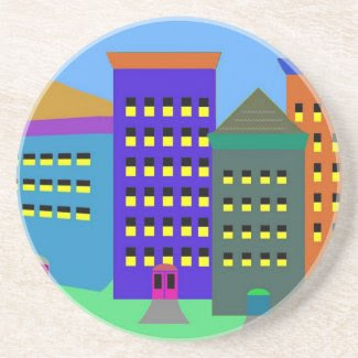 City Art Beverage Coaster