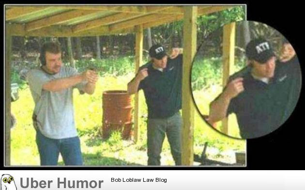 Remember To Protect Your Ears When Firing A Gun Funny Pictures