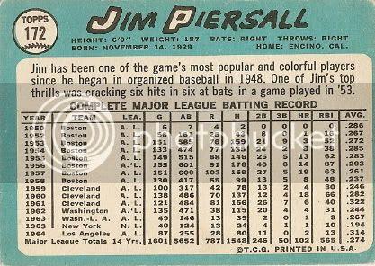 #172 Jim Piersall (back)