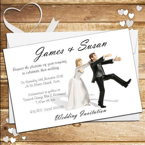 10 Personalised Wedding Invitations Day or Evening N40