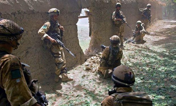 British troops in Helmans