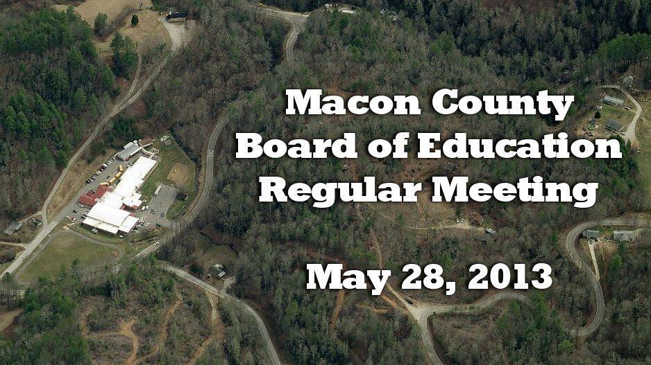 Board of Education May 28 2013