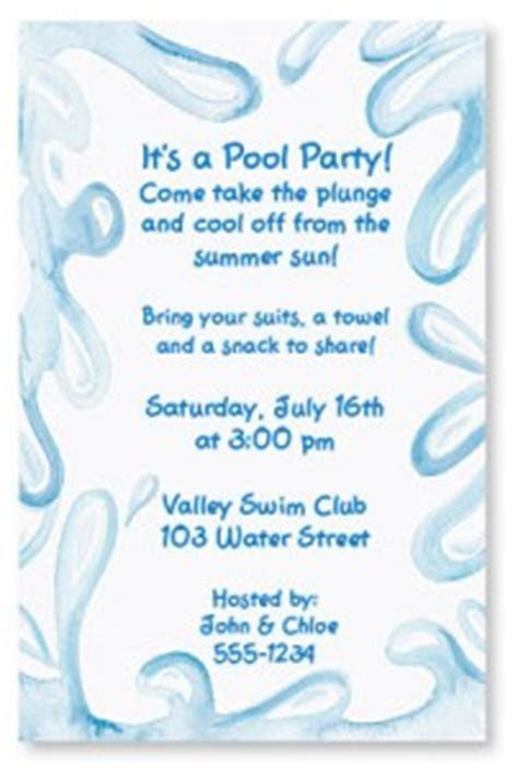 Quick & Easy Printable Pool Party Invitations
