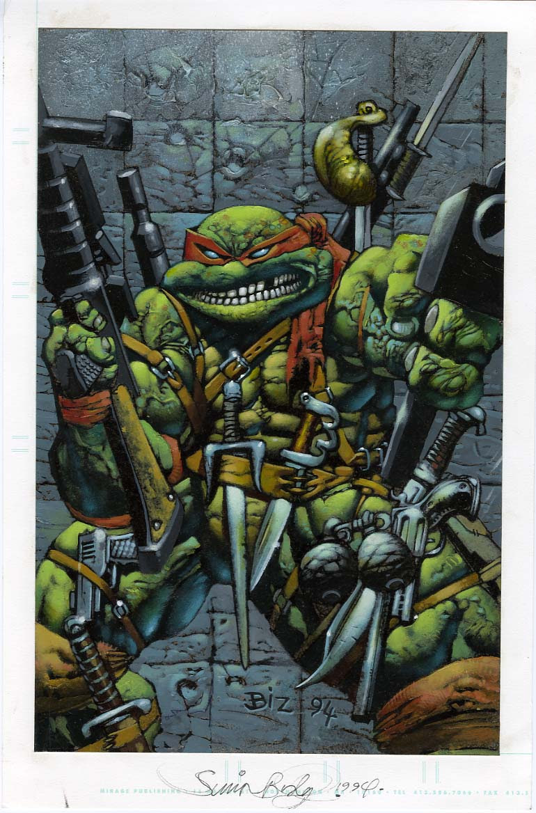 Simon Bisley & Kevin Eastman's 'Body Count' #4 Cover art.. by BIZ ..  ((1994)) // i need a 3000 $$ loan ..;( PHHOOEY !!