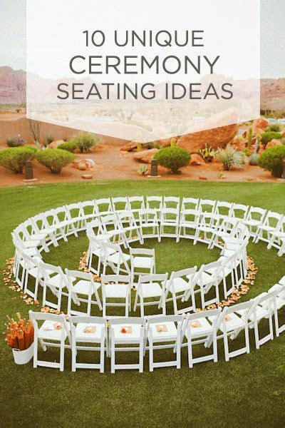 10 Unique Ceremony Seating Ideas in 2019   ** All Things