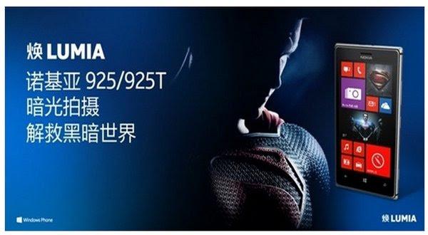 Nokia Lumia Superman (foto: Ist)