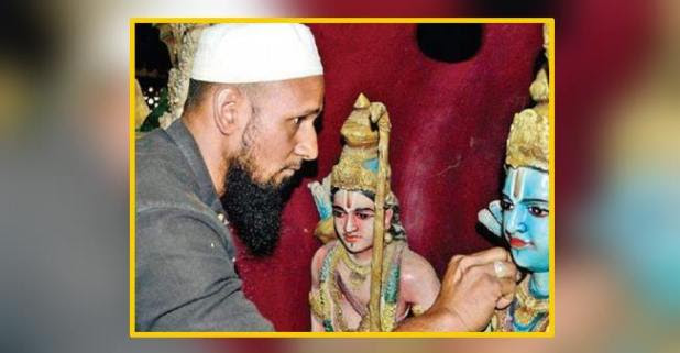 Love over hate: 27 Years old Saddam Hussein is taking care of a ram temple in Bangalore!!