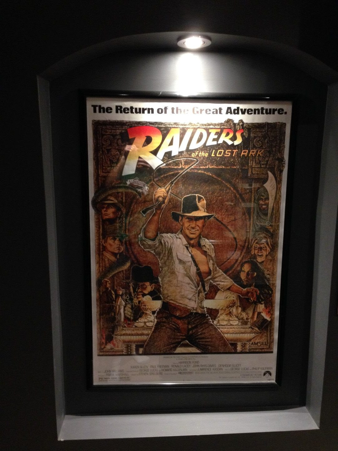 Movie poster lighted wall alcoves - Game Room Info