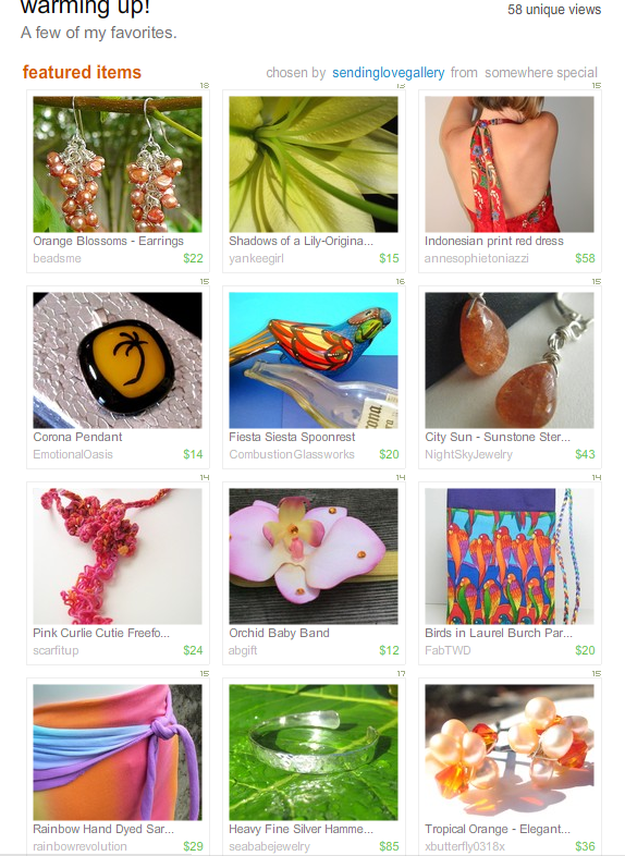 Warming Up Treasury by Sendinglovegallery