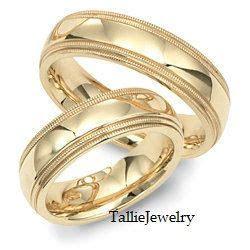 mens womens matching  yellow gold wedding