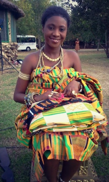 Beautiful girl in traditional kente apparel