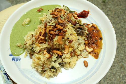 Biryani on a plate