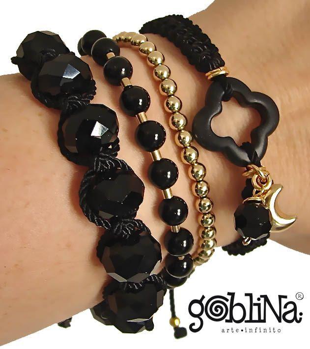 Black Bracelets by Goblina®