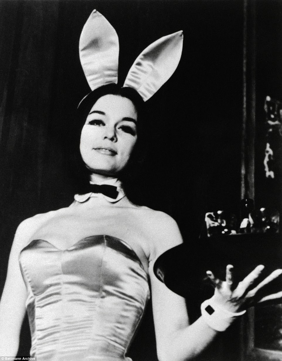 In 1963 leading feminist Gloria Steinem went undercover as a bunny waitress (pictured) in one of Hefner's clubs and wrote an expose about her experience that was published in Show magazine