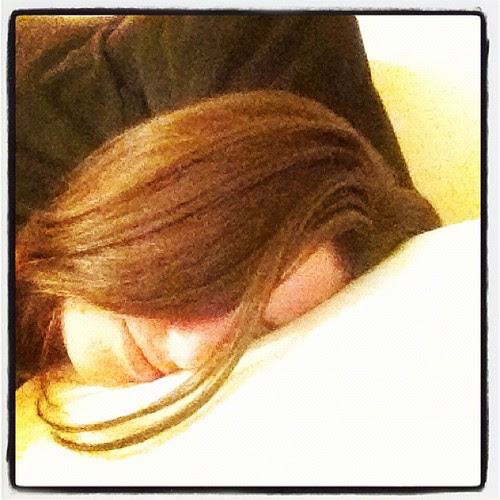 Cuddling up with my awesome #technogel pillow
