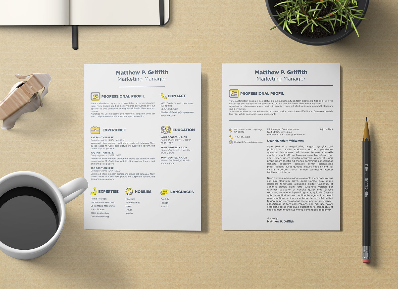 Free Resume Cv Template Cover Letter In Word Psd Indd Ai For