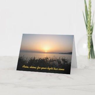 Arise, Shine Sunrise Christmas Card